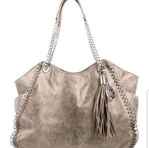 Michael Kors Distressed Leather Shoulder Bag